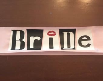 Mean Girls Inspired Bride Sash bachelorette party funny burn book you can't sit with us Regina George
