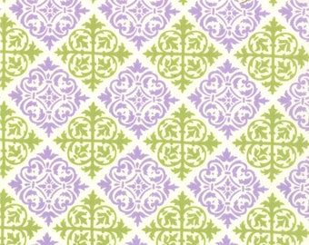Moda TEND THE EARTH Quilt Fabric 1/2 Yard By Deb Strain - Creamy White/Purple 19545 12