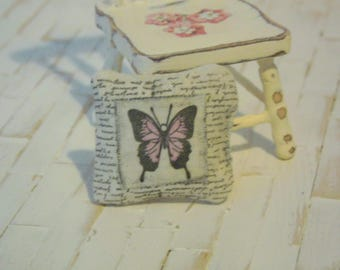 miniature cushions,doll house cushions, minisature accessories, doll house accessories