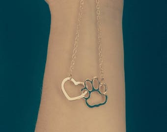 Dainty Animal Necklace Pet Bereavement Gift I Love Dogs Necklace Girlfriend Gift I Love Cats Necklace Crazy Cat Lady Dog Lover Gift Lost Pet