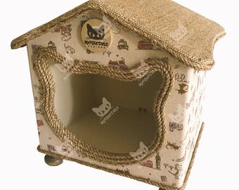 Cat Bed Cat Cottage Cat Cave Cat House Cat Furniture