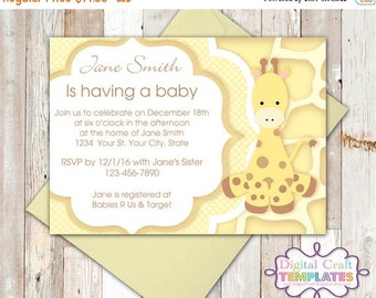SALE Personalized Printable Invitations | Chevrons | Giraffe | Baby Shower | Birth Announcement |  #6