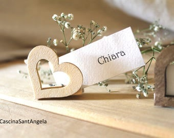 Placeholder Wedding Segnatavoli Wooden gift Rustic country Shabby chic