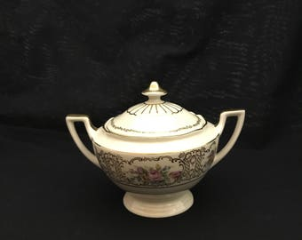 "Thomas ""Richelieu"" Sugar Bowl with Lid,  wide.  Excellent Condition.  (CGP-2943)"