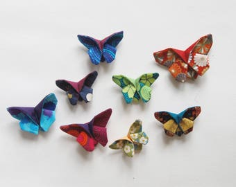 origami brooch butterfly fabric origami