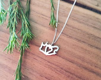 I (Heart) SA Necklace - Sterling Silver