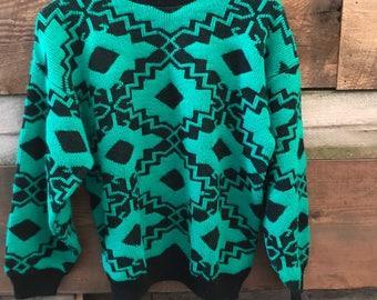 SALE Cheryl Vintage Aztec Print Sweater