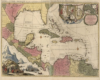 map of the southeastern united states florida gulf coast texas caribbean and