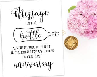 Guestbook Message in a Bottle Guest Book Message in Bottle Sign Wedding Guestbook Sign download Message in a Bottle Wedding Beach idwm49