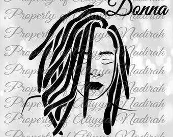 Donna Black Girl SVG