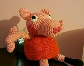 Peppa pig crochet cotton