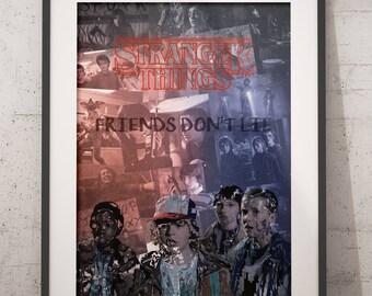 Stranger Things Poster/Stranger Things Print/ Eleven Print/Eleven Poster/Millie Bobby Brown Poster/Millie Bobby Brown Print