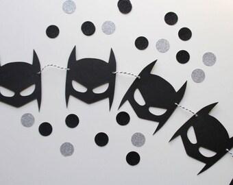 Batman Superhero garland birthday toddler room decor bat