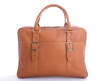 Genuine Vaqueta Leather Overnight Bag Handcrafted in Colombia