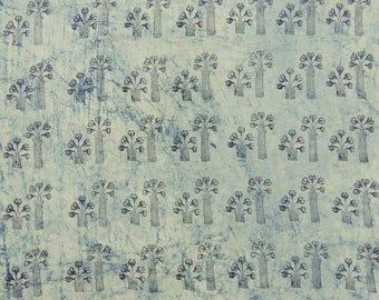 "Hand Printed Fabric, Dress Material, Off White Fabric, Sewing Accessories, 48"" Inch Cotton Fabric By The Yard ZBC8579A"