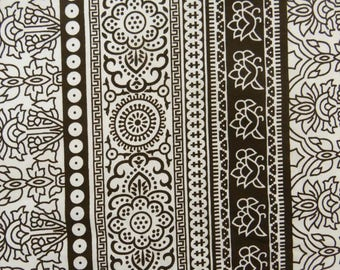 """Home Decor Polyester Fabric, Floral Print, White Fabric, Dress Material, Sewing Fabric, 45"""" Inch Fabric By The Yard ZBP67A"""