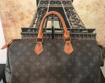 Louis Vuitton Monogram Speedy 35 Vintage Boston Bag