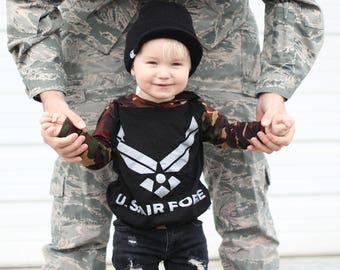 Hoodie Set, baby jumpsuit, childrens joggers, sweatshirt, modern baby, camouflage, military, Air Force ,baby boy,handmade baby outfit,