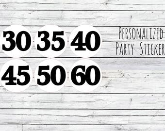 Personalized  Number Stickers, Favor Tags, Labels, Thanks for Coming, Packaging LabelsEnvelope Seals, Number Seals, 50th Party