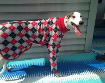 Greyhound fleece pajamas