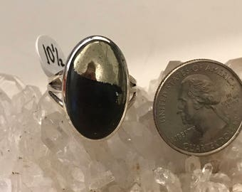 Pyrite/Healer's Gold and Magnetite Ring, Size 10 1/2