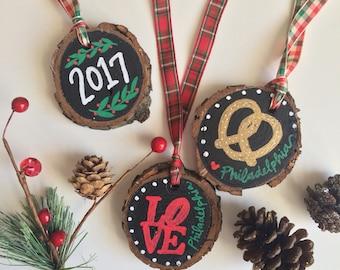 Philadelphia Handmade Wooden Holiday Ornament