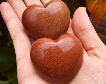 Red Goldstone Hearts