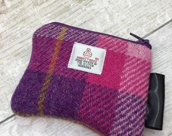 Coin Purse, Harris Tweed  Purse, Zip Purse, Earphone Pouch, Gifts For Girls, Gifts For Her.