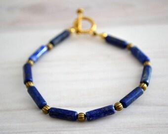 Lapis bracelet, Lapis lazuli bracelet, Lapis lazuli jewelry, Lapis lazuli gift, Lapis lazuli beaded bracelet, Buy one get one free.