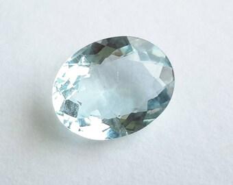 aquamarine 2.54ct gemstone, loose aquamarine gem 10.84 mm x 8.51 mm x 4.46 mm, genuine loose aquamarine gemstone, oval aquamarine, Si