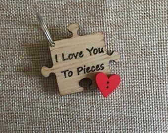 Jigsaw Piece Keyring