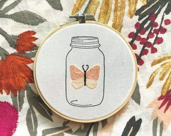 Butterfly in Jar - Pink