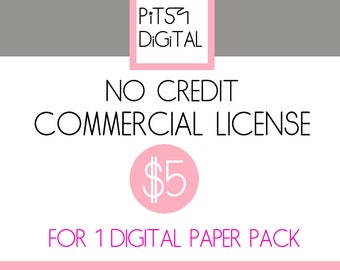 Digital Paper No Credit Commercial Use License For 1 Set Mass Production License No-credit Printable Paper Digital Paper Pack License