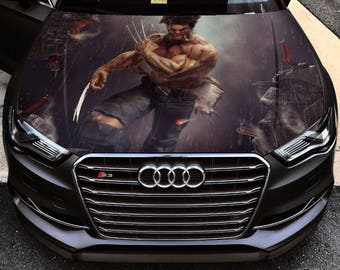 Vinyl Car Hood Full Color Graphics Decal X-Men Wolverine Logan Sticker