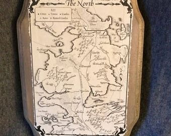 Game of Thrones Westros Map: The North