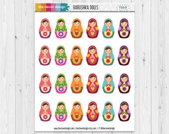 Babushka Dolls Planner Stickers   Russian Matryoshka Planner Stickers   17350-01