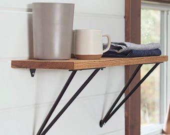 Hairpin style shelf brackets