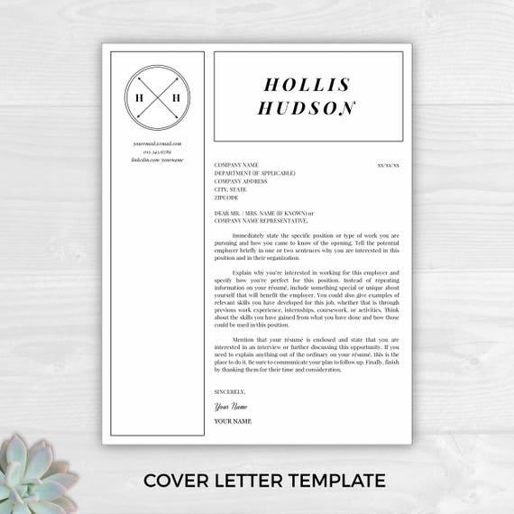 monogram resume template professional resume free resume template resume design resume template word resume cover letter resume - Free Resume Cover Letter Template