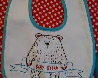 Personalized Baby Bear Baby Bib Embroidery Kit