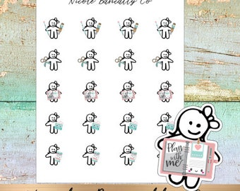 Cutie Pies- Plan With Me- Planner Stickers