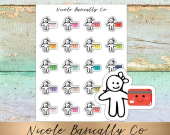 Cutie Pies- Credit Card Planner Stickers