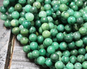 10mm African Jade, Jade Beads, Green Beads, Jade Jewelry Beads, African Jade Beads, Jade Bracelet Beads, Jade Necklace Beads,