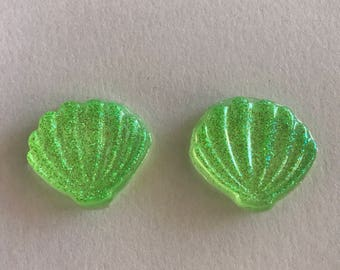 Glitter Seashell Earrings (One Pair)