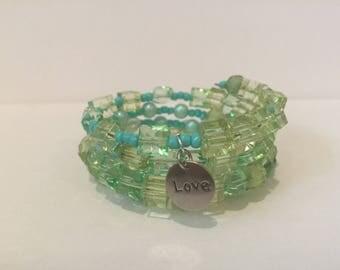 Green Love Wrap Bracelet