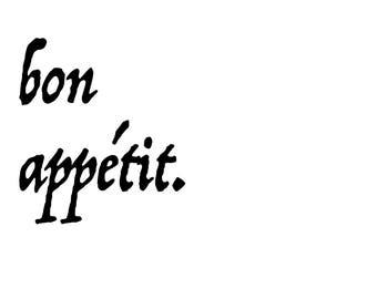 Bon appétit. Digital Print