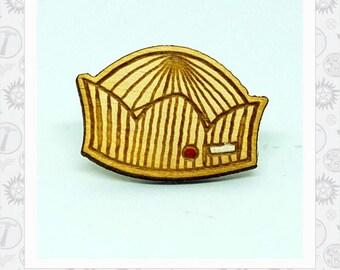Jughead Jones Hat wood laser engraved Lapel Pin