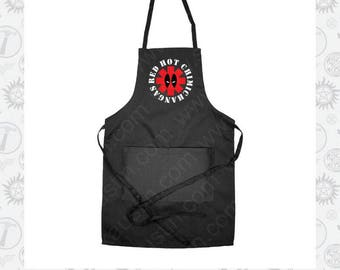 Red Hot Chimichangas Deadpool Inspired Apron