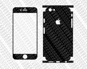 Iphone 6 Skin template for cutting or machining - Digital Download - Lateral Wrap Version