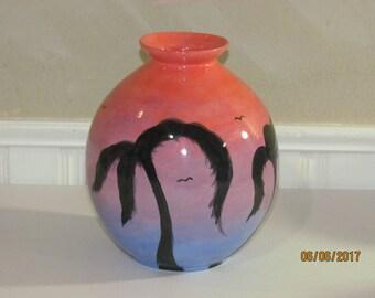 Sunset Paradise Decorative Vase