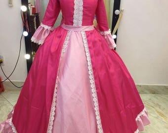 Pink outfit Belle  including cape - Belle princess - Winter Belle